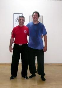 Shifu Alexander Hammerschmied of Vienna school of the branch with Shifu Manos Tamiolakis